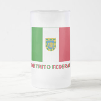 Distrito Federal Unofficial Flag 16 Oz Frosted Glass Beer Mug