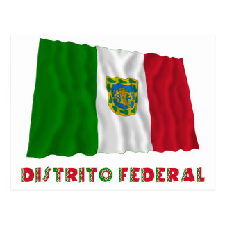 Distrito Federal Waving Unofficial Flag Postcard