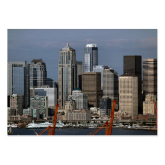 Distrito financiero de la central de Seattle Tarjetas De Visita Grandes