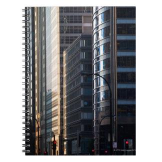 Distrito financiero de la línea Chicago de los ras Libros De Apuntes