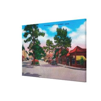 Distrito financiero pintoresco, Carmel Lienzo Envuelto Para Galerias