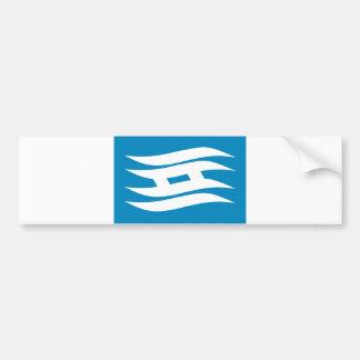 distrito hyogo de la bandera de la región de la pr pegatina para auto