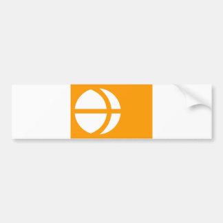 distrito Nagano de la bandera de la región de la p Pegatina Para Auto
