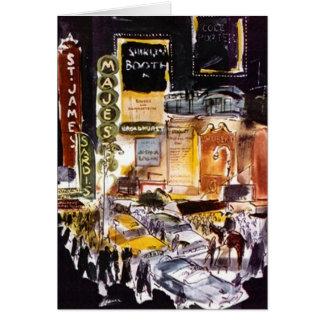 Distrito New York City NYC Broadway del teatro de  Tarjeta