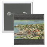 Distrito y Waterboat Sandusky, Ohio, V de Businear Pins