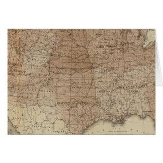 Distritos de Estados Unidos Tarjeta De Felicitación