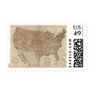 Distritos de Estados Unidos Timbres Postales