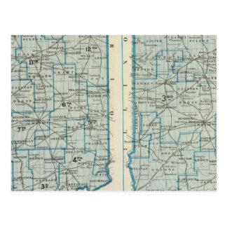 Distritos judiciales Indiana de los distritos parl Tarjetas Postales