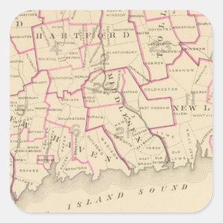 Distritos senatoriales pegatina cuadrada
