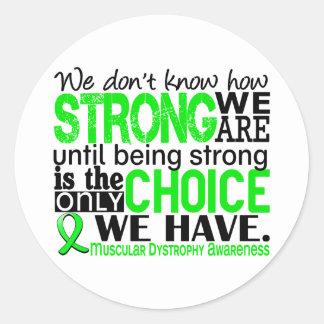 Distrofia muscular cómo es fuerte somos etiquetas redondas