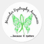 Distrofia muscular de la mariposa 6,1 del tatuaje pegatinas redondas