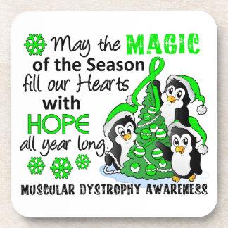Distrofia muscular de los pingüinos del navidad posavasos de bebidas
