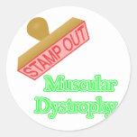 Distrofia muscular etiquetas redondas