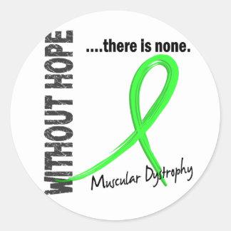 Distrofia muscular sin la esperanza 1 pegatina redonda