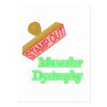 Distrofia muscular tarjeta postal
