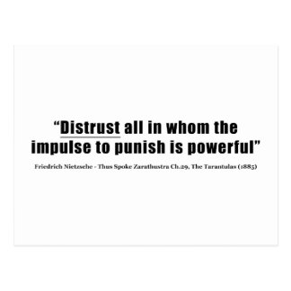 Distrust all whom impulse to punish is powerful postcard