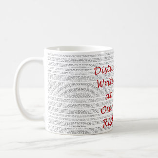 Disturb Writer at Own Risk mug