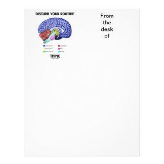 Disturb Your Routine Think (Brain Anatomy) Letterhead