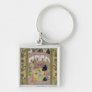 Disturbance by a madman at a social gathering, fro keychain