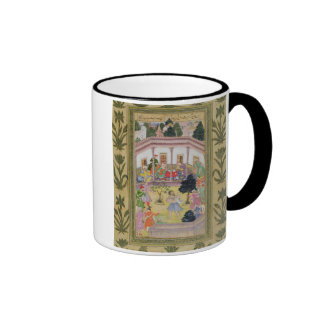 Disturbance by a madman at a social gathering, fro ringer coffee mug