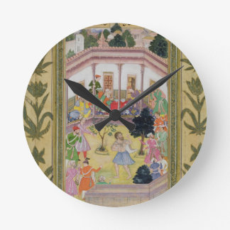Disturbance by a madman at a social gathering, fro round clock