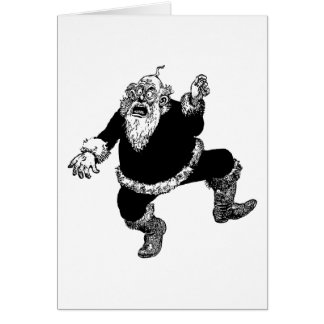 Disturbed Crazy Angry Vintage Christmas Santa Card