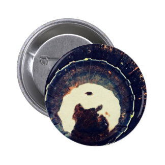 Disturbed waters pinback button