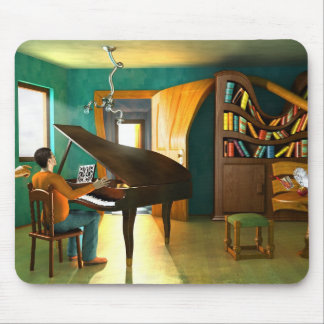 Disturbing the Pianist Mouse Pad