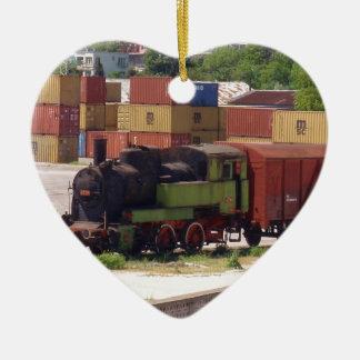 Disused Steam Train Ceramic Ornament