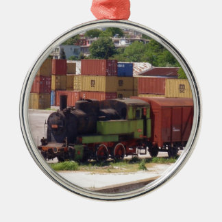 Disused Steam Train Metal Ornament