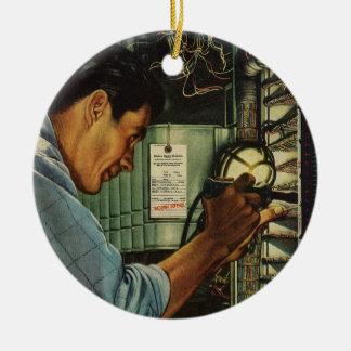 Disyuntores de examen del electricista del vintage adorno de reyes