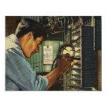 Disyuntores de examen del electricista del vintage comunicado personal