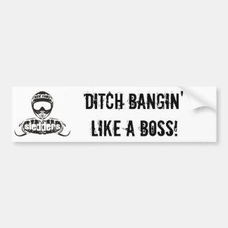 """""""Ditch Bangin' like a Boss"""" Sledders.com bumper Bumper Sticker"""