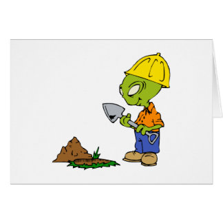 Ditch Digger Alien Greeting Cards