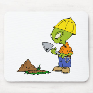 Ditch Digger Alien Mouse Pad