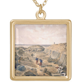 Ditch of the Bastion du Mat, plate from 'The Seat Gold Plated Necklace