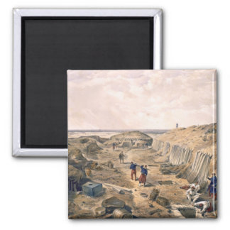Ditch of the Bastion du Mat, plate from 'The Seat Fridge Magnets