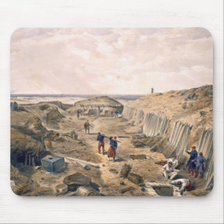 Ditch of the Bastion du Mat, plate from 'The Seat Mouse Pad