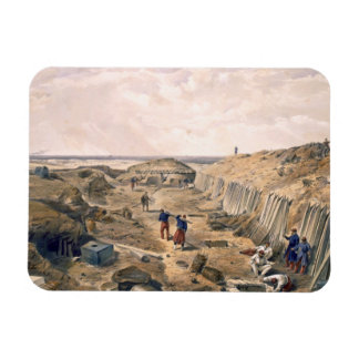 Ditch of the Bastion du Mat, plate from 'The Seat Rectangular Magnets