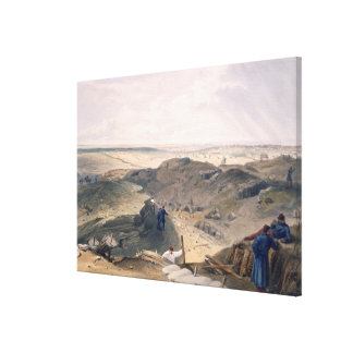 Ditch of the Malakoff, plate from 'The Seat of War Canvas Print