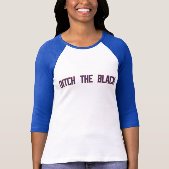 Ditch The Black - Ladies Baseball T-Shirt