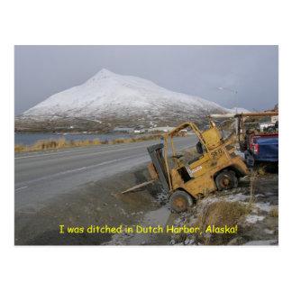 Ditched in Dutch Harbor, Alaska Postcard