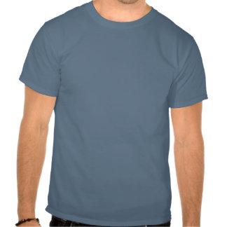 Ditcher, aprisa y Hyde - azul en blanco T-shirts