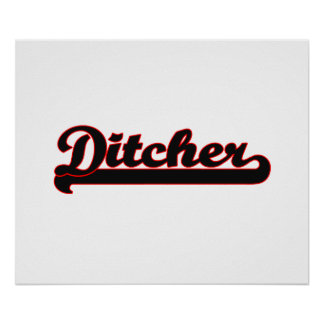 Ditcher Classic Job Design Poster