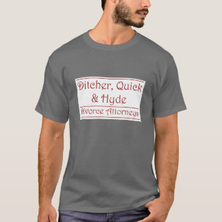 Ditcher, Quick & Hyde - maroon on white T-Shirt