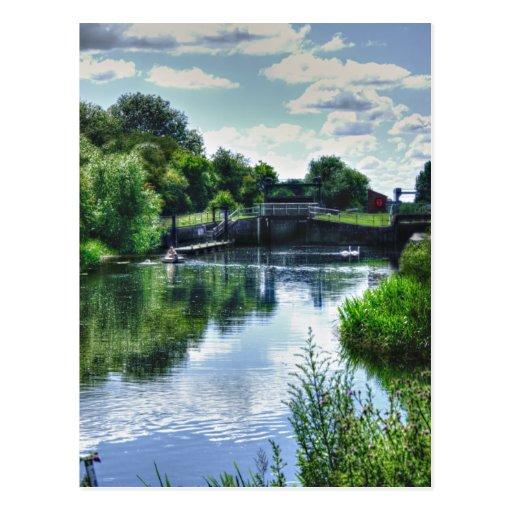 Ditchford Lock (England) Postcard