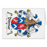 Ditmar Family Crest Greeting Card