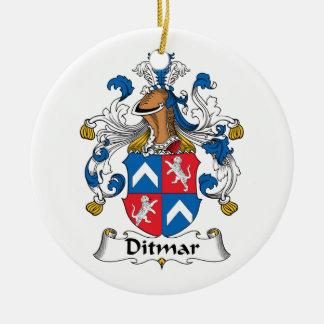 Ditmar Family Crest Christmas Ornaments