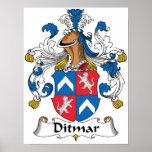 Ditmar Family Crest Print