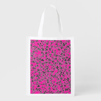 Ditsy2 Color Change Reusable Grocery Bag